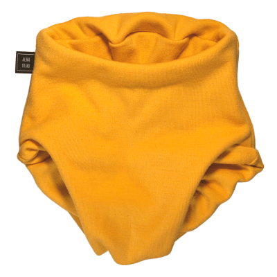 Yellow saffron Pull up nappy front