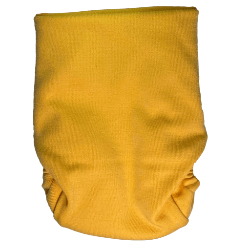 A yellow Snap nappy picture taken from the back