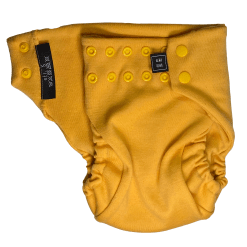 A yellow Snap nappy picture taken witch nappy open