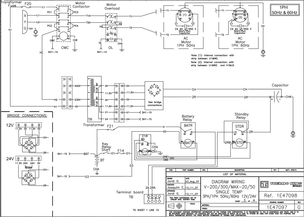 medium resolution of  thermo king v 200 v 300 series on thermo thermostat wiring diagram