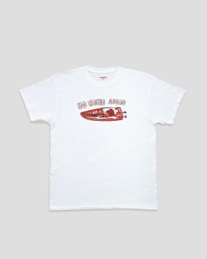 Weißes T-Shirt mit rotem Print