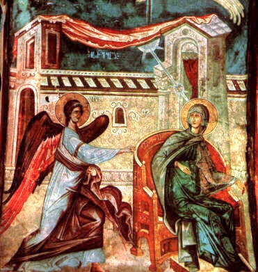 The Annunciation, from a mural in Ubisi, Georgia