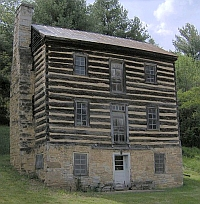 Earnest Fort House, Green County, Tennessee, 1780s; photo by Brian Stansberry