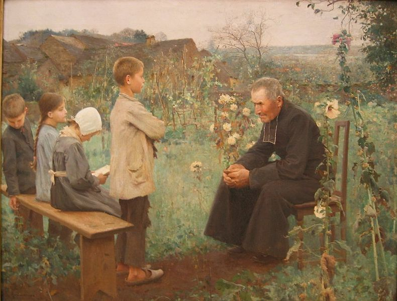The Catechism Lesson, Jules-Alexis Muenier 1890