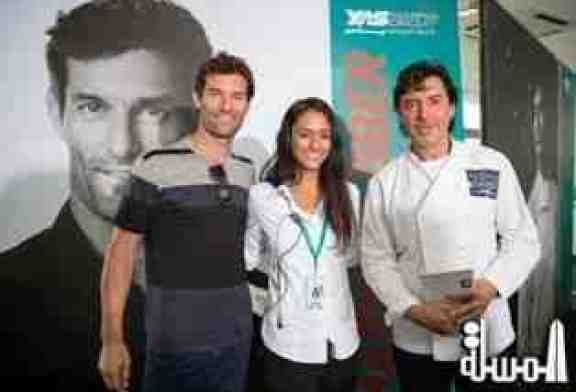 PHOTO CAPTION: JEAN-CHRISTOPHE NOVELLI AND MARK WEBBER PUT ON COOKING MASTERCLASS FOR MARSA HOSPITALITY