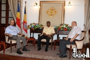 President Faure holds first meeting with President Michel and President Mancham