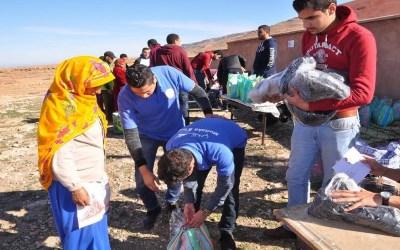 إقليم الحوز: قافلة تضامنية وطبية بأحد دواوير دائرة أمزميز