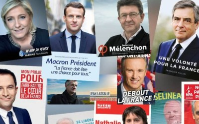 احتاجات بباريس عقب النتائج الأولية للدور الأول من الانتخابات الفرنسية