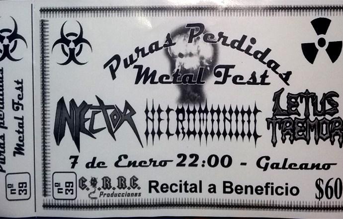METAL FUNDIDO EN SOLIDARIDAD: Puras Pérdidas Metal Fest [07/01/17]