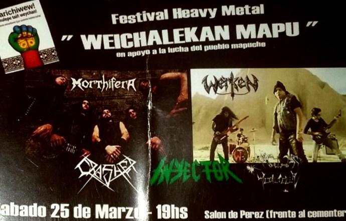 Metal y Resistencia: Weichalekan Mapu (Tierra que está luchando) en Bariloche [21/04/2017]