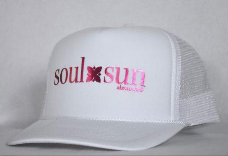 SOULXSUN Metallic Pink on White hat