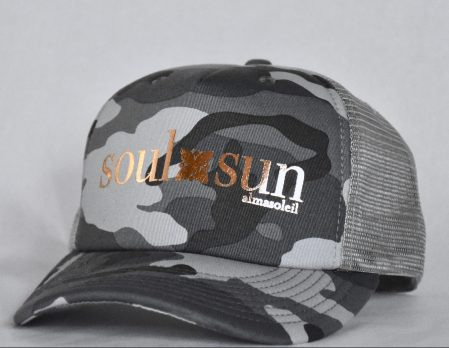 SOULXSUN Rose Gold on Gray Camo hat