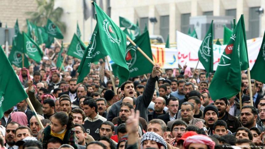 Manifestazione della sezione giordana dei Fratelli Musulmani (AFP/Getty Images)