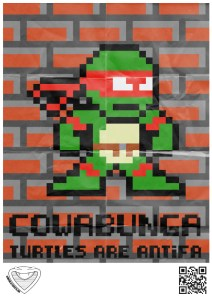 antifascist teenage ninja turtles 8-bit