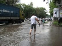 Barefoot Running On Sidewalk