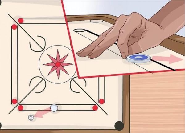 شرح قوانين لعبة الكيرم