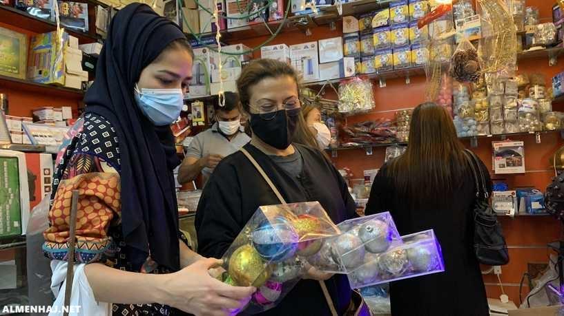 صور زينة عيد الميلاد فى متاجر الرياض