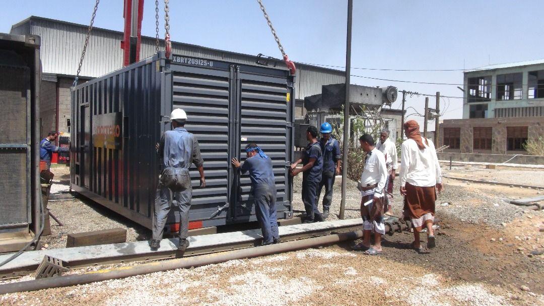 بدء إصلاح كهرباء عتق إثر تخريبها من قبل متمردي ما يسمى بالمجلس الانتقالي