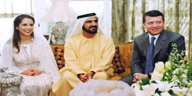 الأميرة هيا بنت الحسين وزوجها محمد بن راشد وشقيقها الملك عبدالله