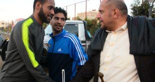 حارس منتخبنا الوطني محمد عياش ينظم