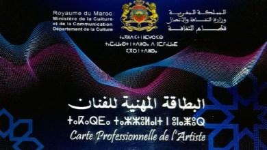 Photo of وزارة الثقافة تعلن عن وجود لائحة الدفعة الثانية للبطاقة المهنية للفنان