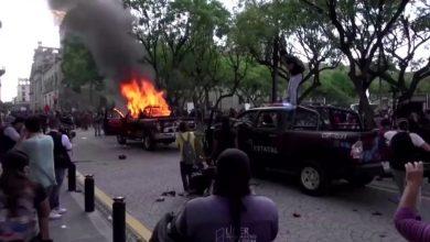 Photo of نيران الاحتجاجات تشتعل في المكسيك بعد مقتل مواطن على يد شرطي