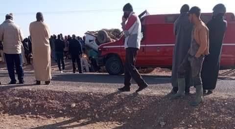 "Photo of طاطا: قتيل وجرحى بعد انقلاب ""سيارة فلاحية"" كانت تحمل عاملات زراعيات"