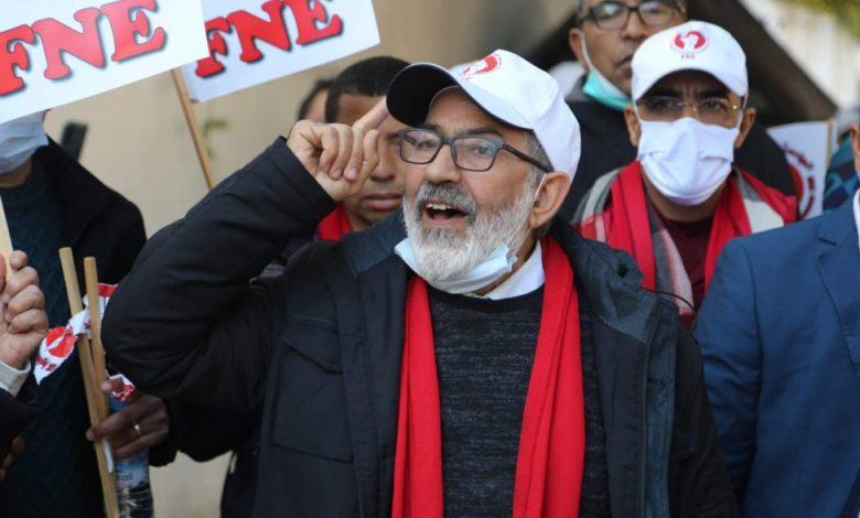 """الجامعة الوطنية للتعليم FNE تندد بـ""""التدخل البوليسي لقمع اعتصامها"""" بالرباط"""