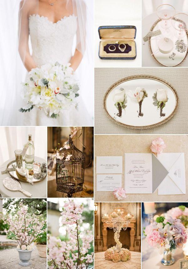 inspiratie nunta alb si auriu