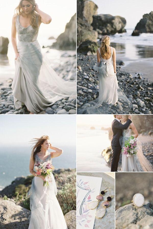 rochie de mireasa nunta la mare