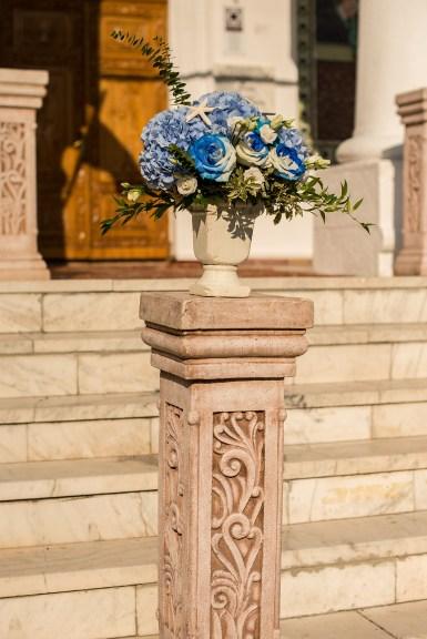 Aranjament floral biserica
