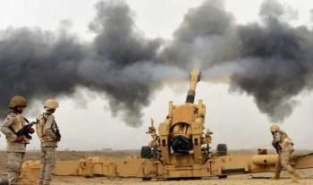 المدفعية السعودية تدك معاقل للحوثيين قبالة الخوبة ومقتل عشرات الانقلابيين