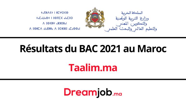 Taalim.ma | Résultats du BAC 2021 au Maroc