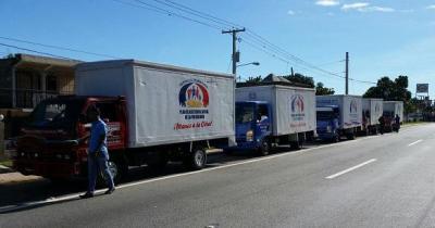 Convoy Plan Social Presidencia rumbo a Puerto Plata con ayudas