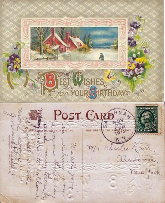 Garland and Mabel's Birthday Card to Ella