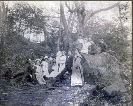 Grandparents in the woods