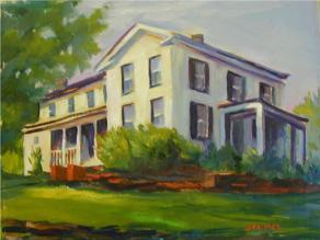 3 - Painting of Almond McIntosh House by Phyllis Steimel