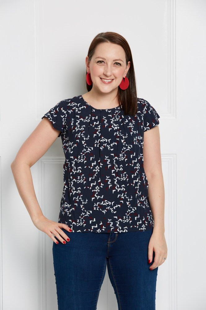 Almond rock simple sew poppy top stoff and stil viscose