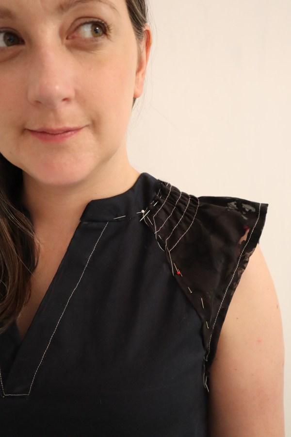 McCall's M8090 Marina dress pattern hack Love Sewing 95 #sewrecreatethelook toile