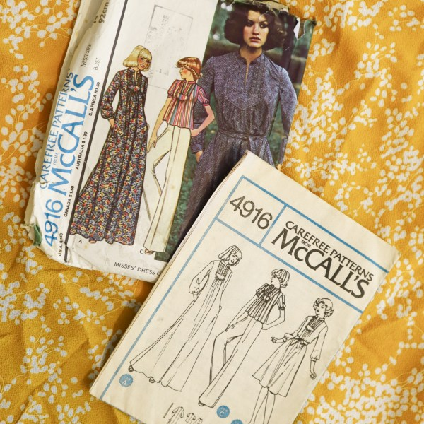 Almond Rock makes McCall's 4916 vintage blouse pattern from 1970s
