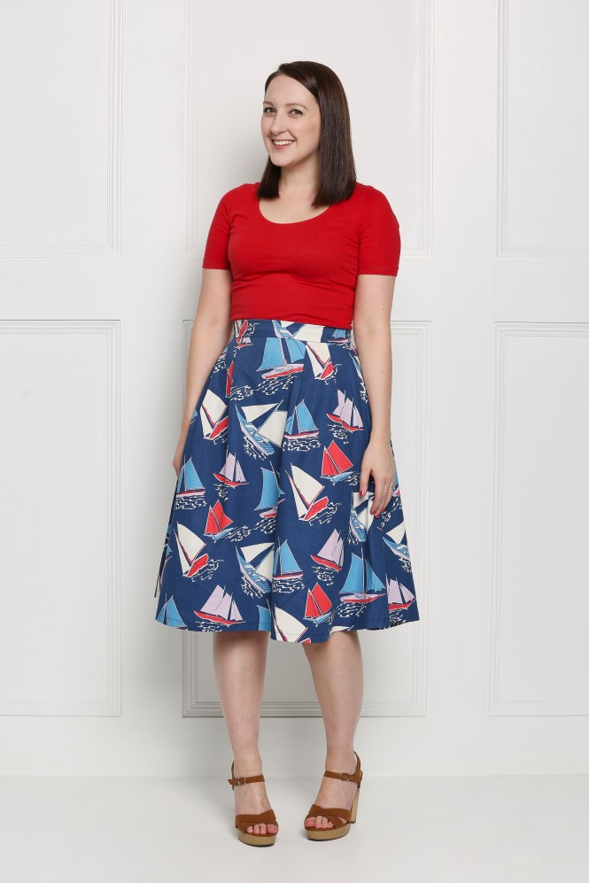 Almond rock simple sew Sophia skirt and top cath kidston nautical