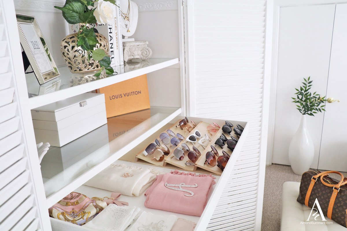 closet DIY Drawer sunglasses insert tray