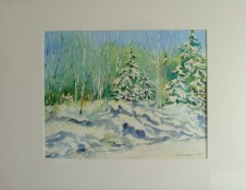 Art 'Wolf Grove Rd Winter' A. Roxburgh