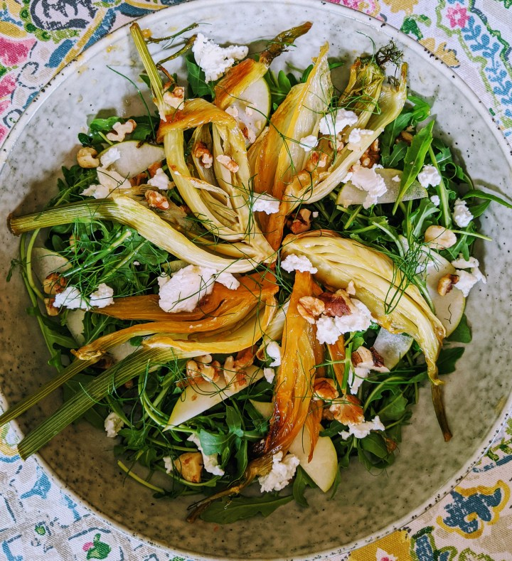Candied Fennel and Goat's Cheese Salad