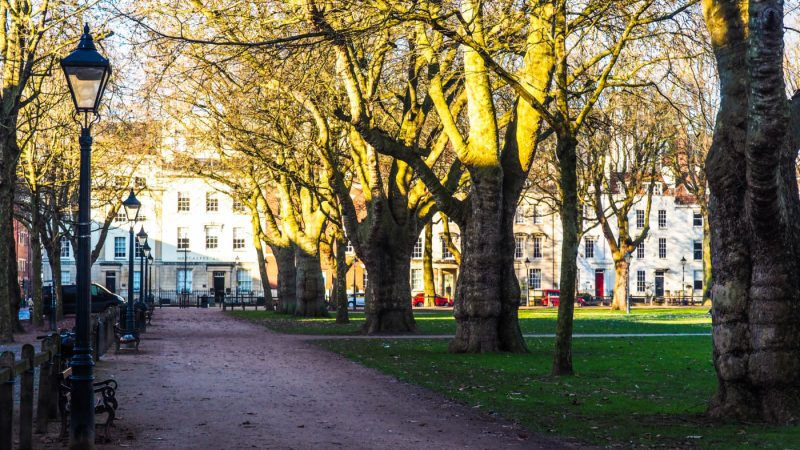 One of the main Sherlock Film Locations in Bristol is Queen Square | almostginger.com