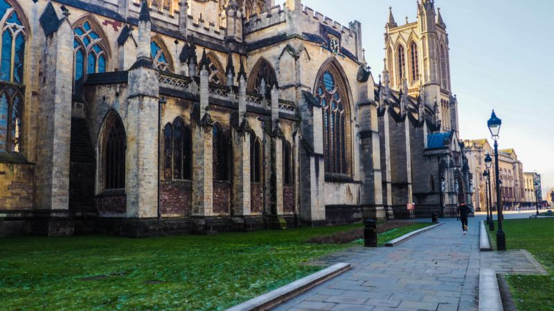 One of the main Sherlock Film Locations in Bristol is Cathedral College Green | almostginger.com