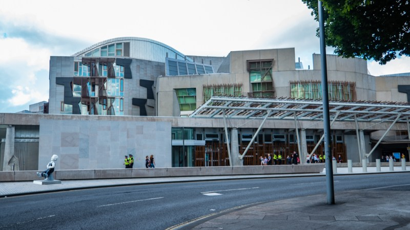 Scottish Parliament Building in Edinburgh which is a Trainspotting film location