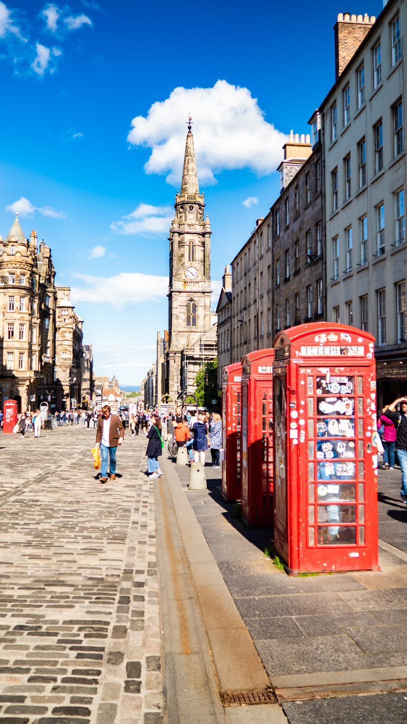 Royal Mile in Edinburgh which is a Trainspotting film location
