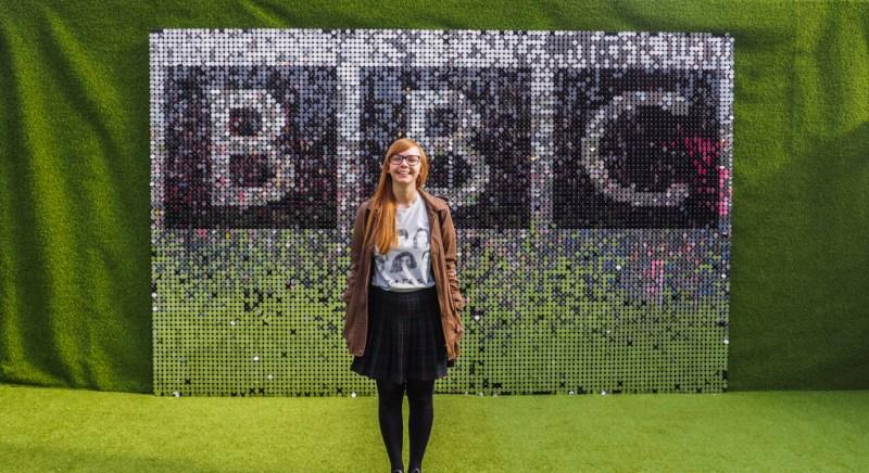 Almost Ginger blog owner at BBC at the Edinburgh Festivals in Scotland, UK