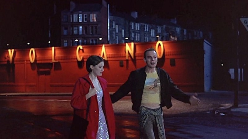 Kelly McDonald and Ewan McGregor leaving the Volcano nightclub in the film Trainspotting (1996)